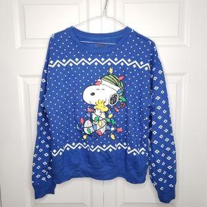 Peanuts snoopy light up ugly christmas sweatshirt